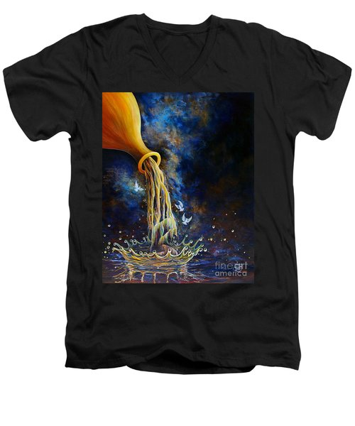 Regeneration Men's V-Neck T-Shirt by Nancy Cupp
