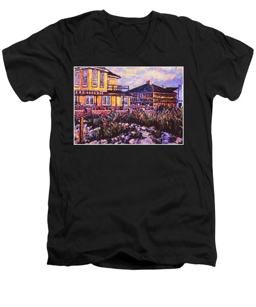 Rehoboth Beach Houses Men's V-Neck T-Shirt