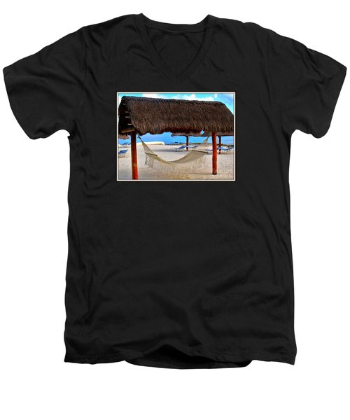 Men's V-Neck T-Shirt featuring the photograph Relaxation Defined by Patti Whitten