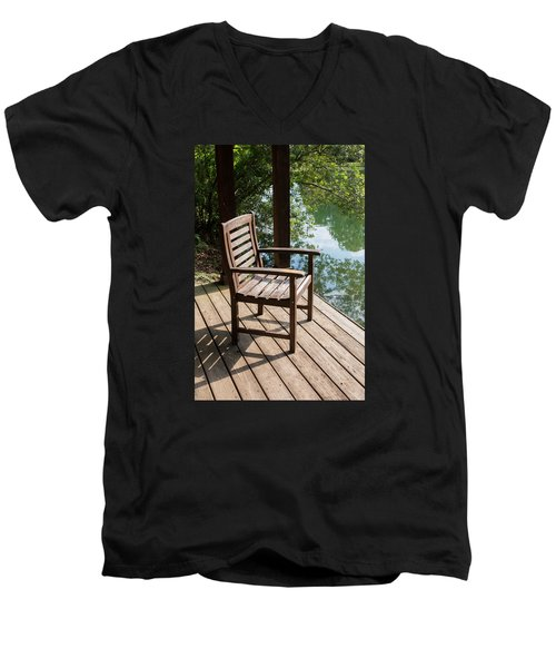 Alone By The Lake Men's V-Neck T-Shirt
