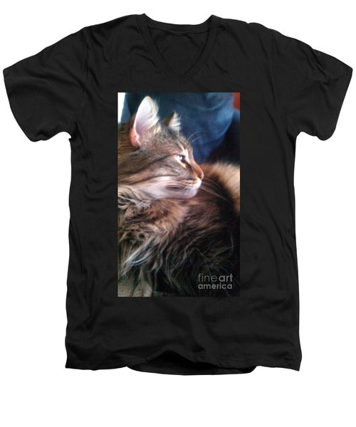 Men's V-Neck T-Shirt featuring the photograph Remembering Bo by Jacqueline McReynolds