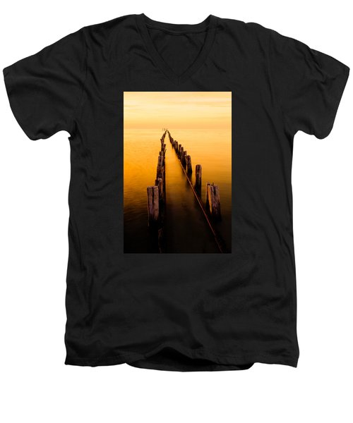 Remnants Men's V-Neck T-Shirt by Chad Dutson