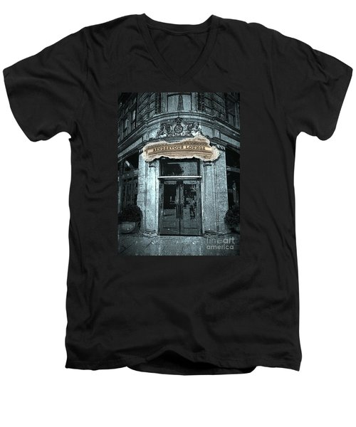 Men's V-Neck T-Shirt featuring the photograph Rendezvous Lounge - Lancaster Pa. by Joseph J Stevens