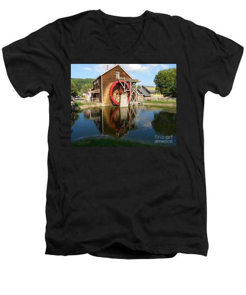 Men's V-Neck T-Shirt featuring the photograph Renfro Valley  Mill by Mary Carol Story