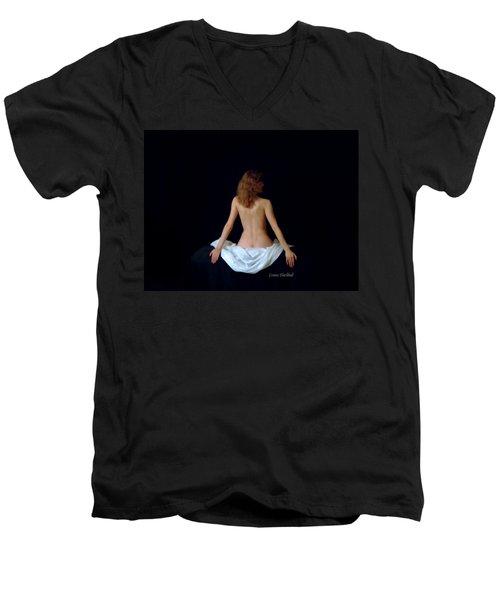 Rennaisance Woman Men's V-Neck T-Shirt by Donna Blackhall