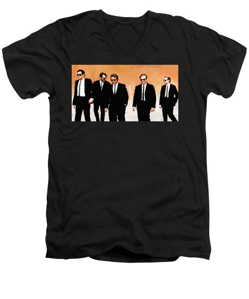 Reservoir Dogs Movie Artwork 1 Men's V-Neck T-Shirt