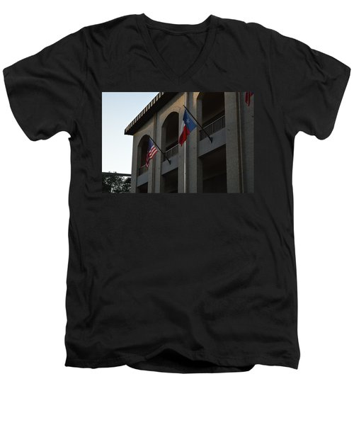 Men's V-Neck T-Shirt featuring the photograph Respect by Shawn Marlow