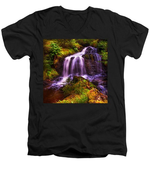 Retreat For Soul. Rest And Be Thankful. Scotland Men's V-Neck T-Shirt by Jenny Rainbow