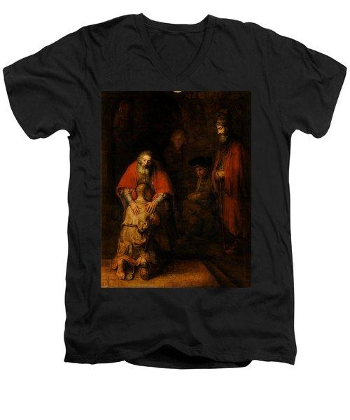 Return Of The Prodigal Son  Men's V-Neck T-Shirt