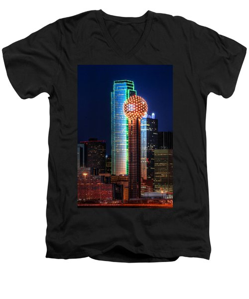 Reunion Tower Men's V-Neck T-Shirt