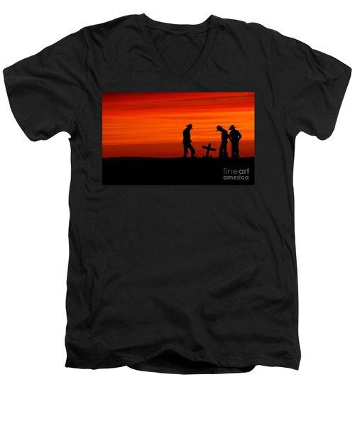 Cowboy Reverence Men's V-Neck T-Shirt
