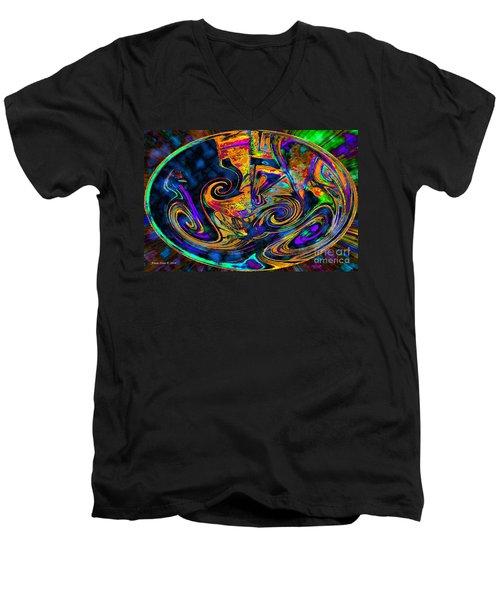 Rhythm Of The Soul Men's V-Neck T-Shirt by Annie Zeno