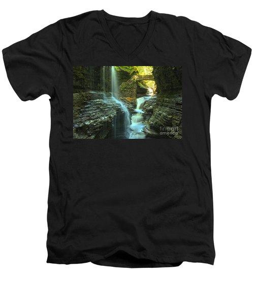 Rainbow Falls Watkins Glen Men's V-Neck T-Shirt