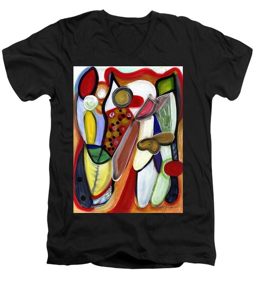 Men's V-Neck T-Shirt featuring the painting Rich In Character by Stephen Lucas