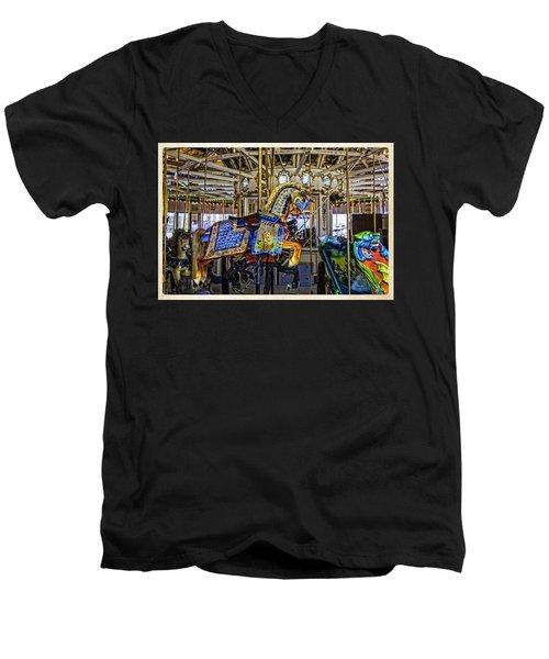 Ride A Painted Pony - Coney Island 2013 - Brooklyn - New York Men's V-Neck T-Shirt