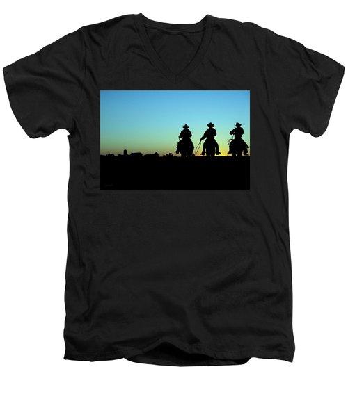Ride 'em Cowboy Men's V-Neck T-Shirt by Andrea Kollo