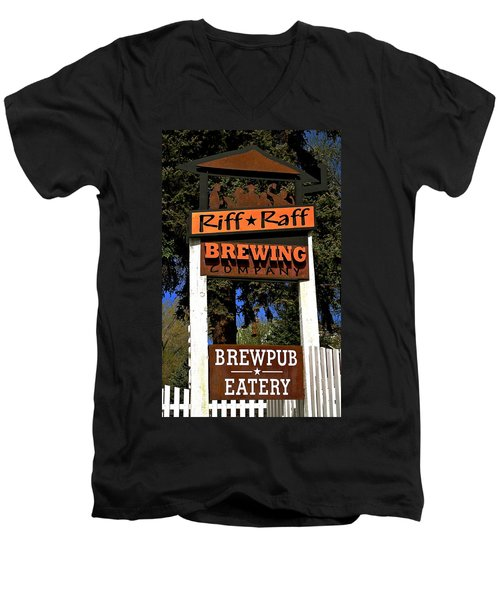 Riff Raff Brewing Men's V-Neck T-Shirt