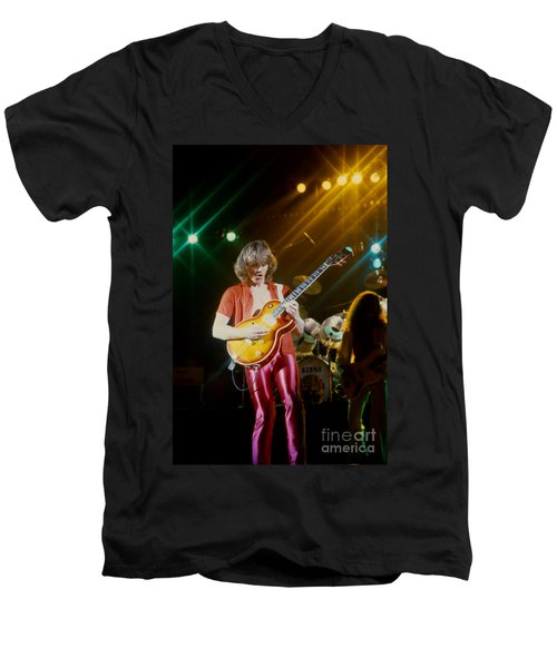 Rik Emmett Of Triumph At The Warfield Theater In San Francisco Men's V-Neck T-Shirt