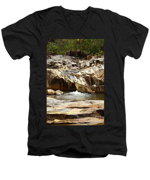 Rio On Pools Men's V-Neck T-Shirt by Kathy McClure
