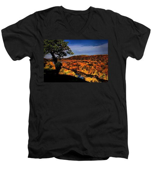 Men's V-Neck T-Shirt featuring the photograph Rise And Look Around You by Robert McCubbin