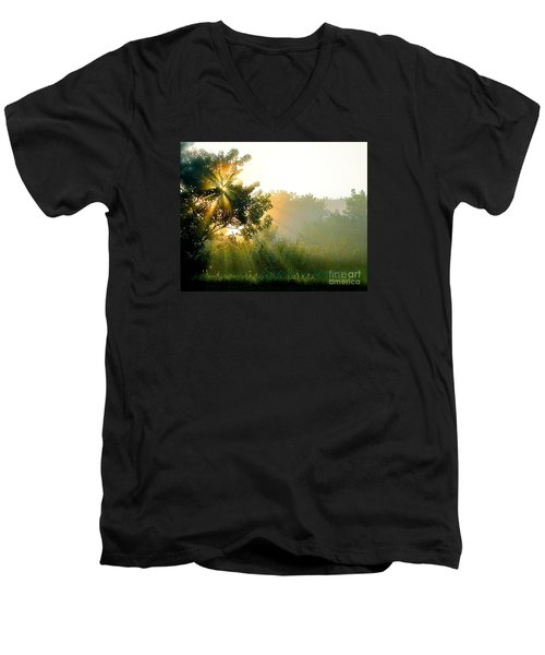 Rise And Shine Men's V-Neck T-Shirt by Sue Stefanowicz