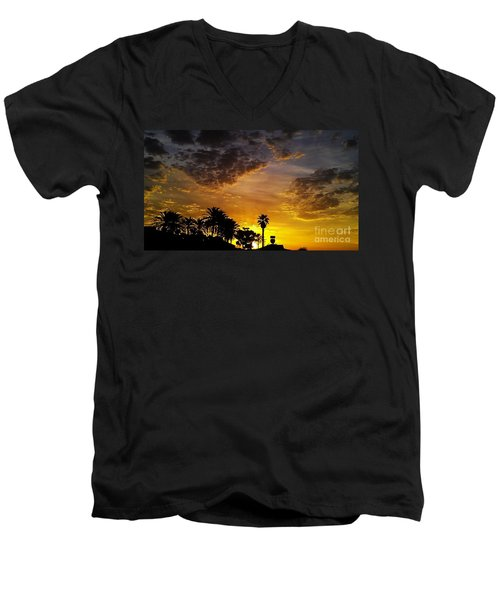 Men's V-Neck T-Shirt featuring the photograph Rise by Chris Tarpening