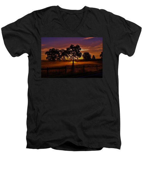 Rise Men's V-Neck T-Shirt by Robert Geary