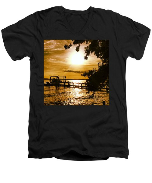 River Acres Jaynes Sunset Men's V-Neck T-Shirt