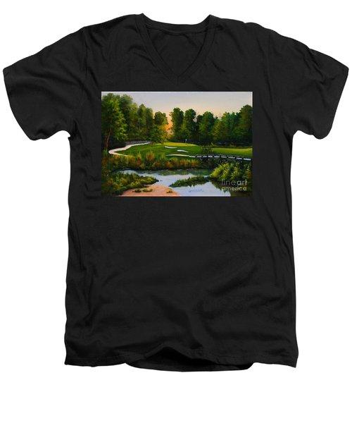 River Course #16 Men's V-Neck T-Shirt