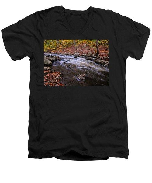 River Of Color Men's V-Neck T-Shirt by Dave Mills