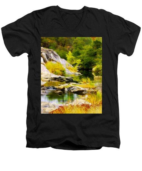River Spirit Men's V-Neck T-Shirt