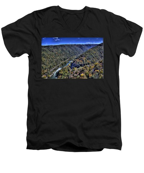 River Through The Hills Men's V-Neck T-Shirt