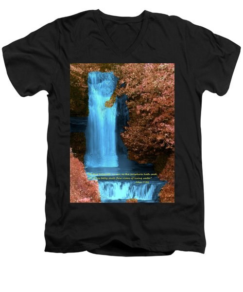 Rivers Of Living Water Men's V-Neck T-Shirt by Bruce Nutting
