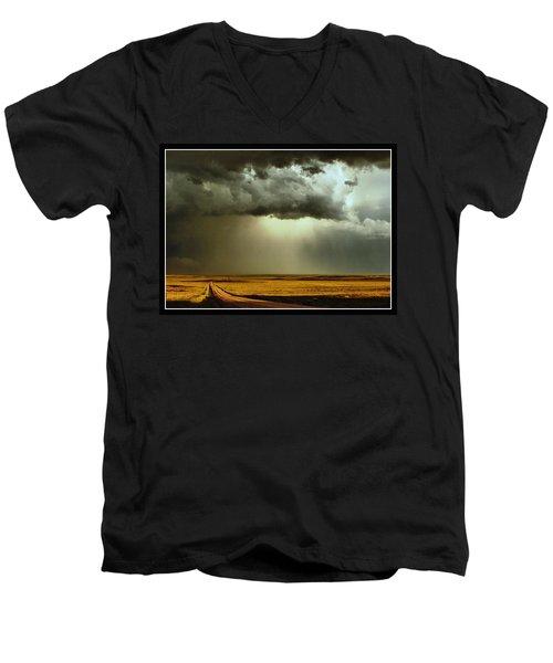 Road Into The Storm Men's V-Neck T-Shirt