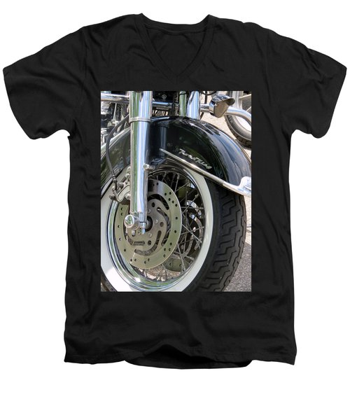 Road King Men's V-Neck T-Shirt by Kay Novy