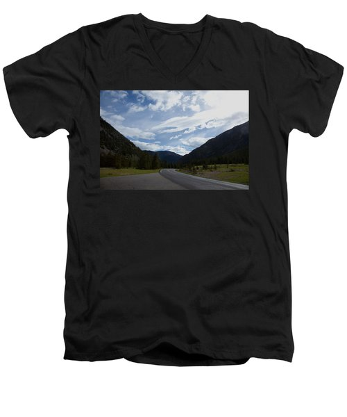 Road Through The Mountains Men's V-Neck T-Shirt
