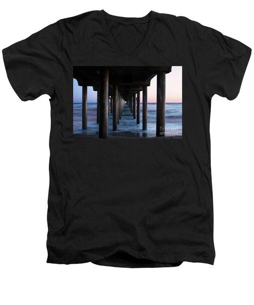 Road To Heaven Men's V-Neck T-Shirt by Mariola Bitner