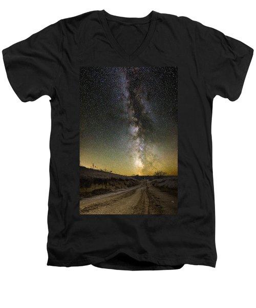 Road To Nowhere - Great Rift Men's V-Neck T-Shirt