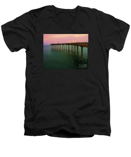 Men's V-Neck T-Shirt featuring the photograph Road To Water by Jasna Gopic