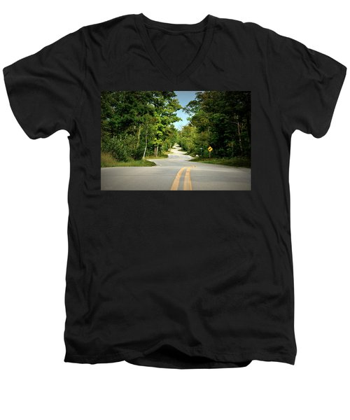 Roadway Slalom Men's V-Neck T-Shirt