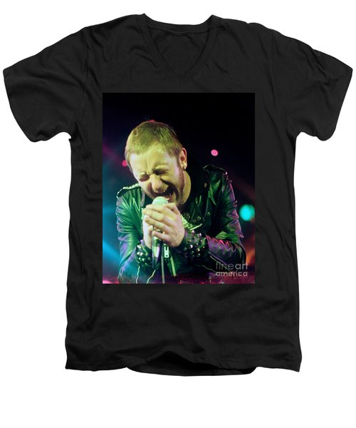 Rob Halford Of Judas Priest Without Flames Effect- Warfield Theater During British Steel-unreleased  Men's V-Neck T-Shirt