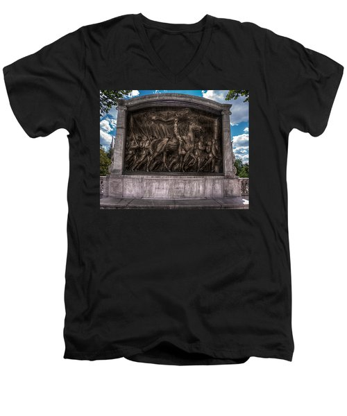 Robert Gould Shaw Memorial On Boston Common Men's V-Neck T-Shirt by Tom Gort