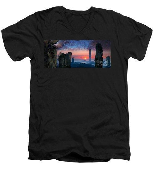 Rock Towers Men's V-Neck T-Shirt