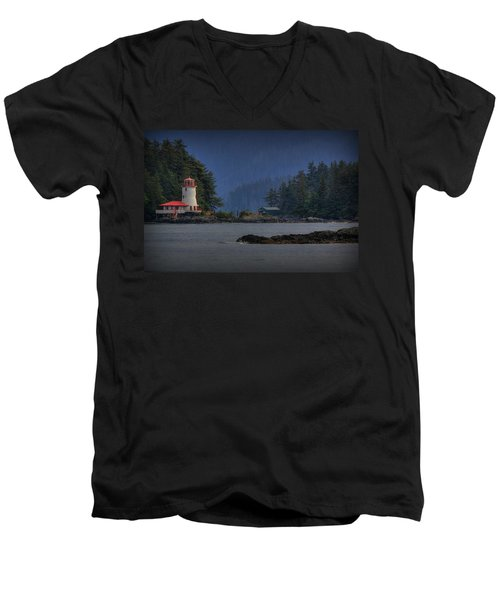 Rockwell Lighthouse Sitka Alaska Men's V-Neck T-Shirt