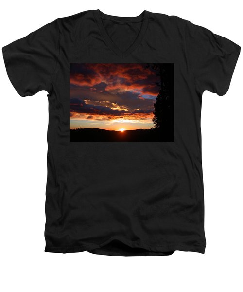 Rocky Mountain Sunset Men's V-Neck T-Shirt