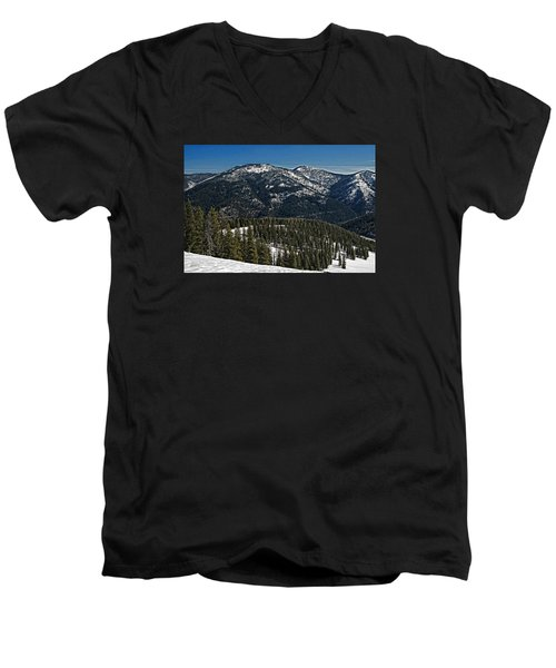 Men's V-Neck T-Shirt featuring the photograph Rocky Mountain Top by Andy Crawford