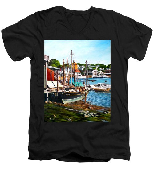 Rocky Neck October Men's V-Neck T-Shirt