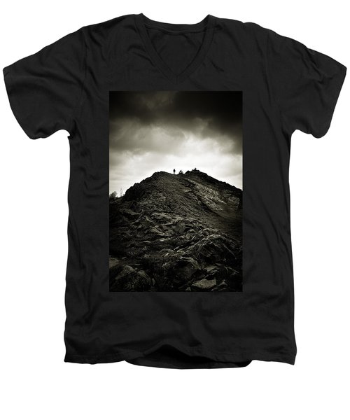 Rocky Pathway To Scotland Men's V-Neck T-Shirt