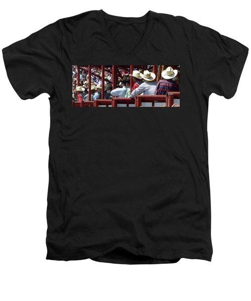 Rodeo Time Cowboys Men's V-Neck T-Shirt by Susan Garren