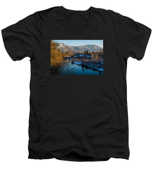 Rogue River Winter Men's V-Neck T-Shirt